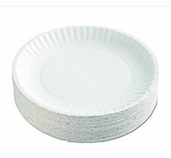 AJM Packaging, PP9GRAWH, Dinnerware Plate, Paper, White, 9 in
