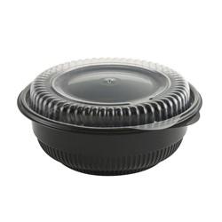 Anchor Packaging, Incredi-Bowl®, 4115816, Round Bowl, 1 Base, Clear Lid, Black Base, #5 Polypropylene