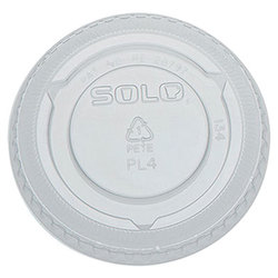 Solo Cup Company, PL4N, Cup Lid, Flat, Clear, PET