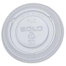 Solo Cup Company, PL200N, Cup Lid, Flat, Clear, PET