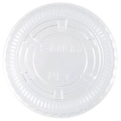 Solo Cup Company, PL100N, Cup Lid, Flat, Clear, PET