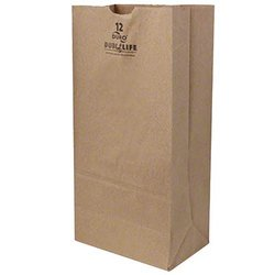 Duro Hilex Poly, Novolex™, 18412, Foodservice Bag, Self Opening, Paper, Kraft
