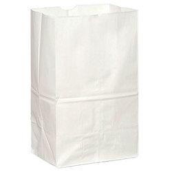 Duro Hilex Poly, Novolex™, 51032, Foodservice Bag, Self Opening, Virgin Paper, White