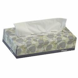 Kimberly Clark, Kleenex®, 21400, Facial Tissue, White, 8.3 x 7.8 in, Flat Box