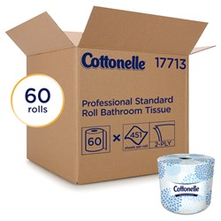 Kimberly Clark, Cottonelle®, 17713, Toilet Paper, 4.09 x 4 in, 2-Ply, Core