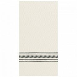 Hoffmaster, FashnPoint®, 17800206, Dinner Napkin, Black and White Dishtowel, 2 Ply, 8000 Case
