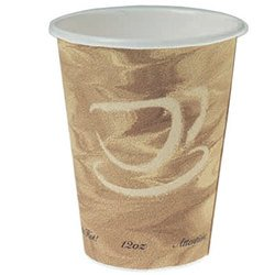 Solo Cup Company, Dart®, 412MSN-0029, Hot Cup, 12 oz, Single Sided Poly Paper, Serving Hot Beverages Like Coffee, Tea or Cocoa