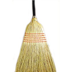 ACS Industries, B412, Janitor Broom, Blend, Fiber, Wood Handle