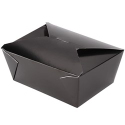 Westrock, Bio-Pak®, 04BPBLACKM, Microwavable Food Container, #4, Paper, Black, 8-3/4 in Top, 160 Case per Pack