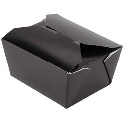 Westrock, Bio-Pak®, 01BPBLACKM, Microwavable Food Container, #1, Paper, Black, 5 in Top, 450 Case per Pack