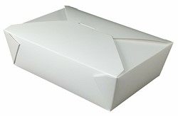 Westrock, Bio-Pak®, 02BPWHITEM, Microwavable Food Container, #2, Paper, White, 8-7/16 in Top, 200 Case per Pack