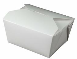 Westrock, Bio-Pak®, 01BPWHITEM, Microwavable Food Container, #1, Paper, White, 5 in Top, 450 Case per Pack