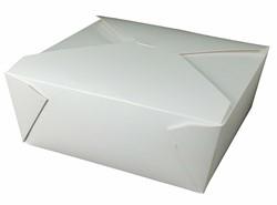 Westrock, Bio-Pak®, 04BPWHITEM, Microwavable Food Container, #4, Paper, White, 8-3/4 in Top, 160 Case per Pack