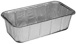 Handi-Foil, 316-30-200, Loaf Container, Rectangular, Silver, 200 Case