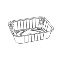 Handi-Foil, 317-30-200, Loaf Container, Rectangular, Silver, 200 Case