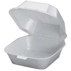 Genpak, 22400, Sandwich Container, White, Foam, Secure Closures, 1 Compartment
