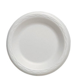 Genpak, Celebrity®, 80600, Food Serving Plate, Foam, Polystyrene, White, 6 in Diameter