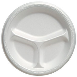 Genpak, Celebrity®, 83900, Food Serving Plate, Foam, Polystyrene, White, 8.88 in Diameter