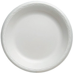 Genpak, Celebrity®, 81000, Food Serving Plate, Foam, Polystyrene, White, 10.25 in Diameter