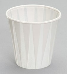Genpak, W450F, Paper Drinking Cup, Paper, White, 3.5 oz Capacity