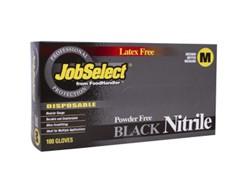 Blk Jobselect Glovenitrile P/F Medium Blk  10/100, 103-214