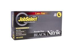 Blk Jobselect Glovenitrile P/F Large Black 10/100, 103-216