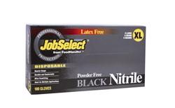 Blk Jobselect Glovenitrile P/F X-Large Blk 10/100, 103-218