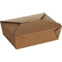 Specialty Quality Packaging, 100460, Eco-Box Food Container, #4, Kraft, Paper, 7 x 5 x 3.5 in