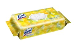 Lysol Flatpack Disinfecting Wipes, Lemon & Lime, 80 Ea, 6 Packs