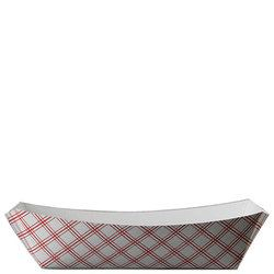 Specialty Quality Packaging, 64728701, Food Tray, Red/White, 6.5 x 4.375 x 1.5 in, Paper