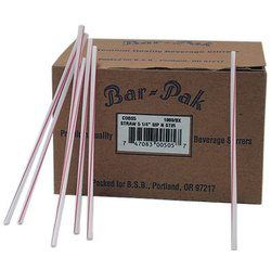 Cell-O-Core, Bar-Pak™, 68170204, Bar Stirrer, White/Red, 5.25 in, 10000 Case