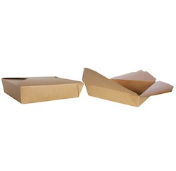 Prime Source, 75008003, Microwavable Food Container, #2, Kraft, Paper, 200 Case per Pack