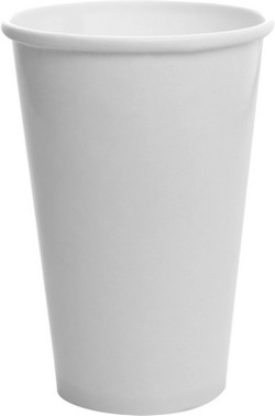 Lollicup, Karat®, C-KCP16W, Paper Cold Cup, Double Poly Paper, White, 16 oz Capacity