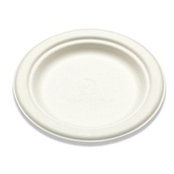 WHBRG-06 PLATE WHITE/BAGASSE