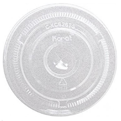 Lollicup, Karat®, C-KC626TS, Flat Lid, Plastic, Clear, 98 mm, 20 Sleeve per Case