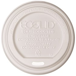 Eco-Products, EcoLid®, EP-ECOLID-W, Renewable Hot Cup Lid, Plastic, White