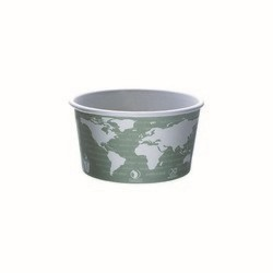 Eco-Products, World Art™, EP-BSC12-WA, Soup Container, 12 oz, Dark Gray, Polylactic Acid/Plastic, 4.51 in x 2.47 in