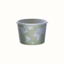 Eco-Products, World Art™, EP-BSC16-WA, Soup Container, 16 oz, Light Gray, Polylactic Acid/Plastic, 4.51 in x 3.04 in