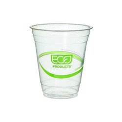 Eco-Products, GreenStripe®, EP-CC12-GS, Cold Cup, 12 oz, Polylactic Acid/Plastic, Clear, Round Cup