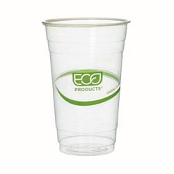 Eco-Products, GreenStripe®, EP-CC20-GS, Cold Cup, 20 oz, Polylactic Acid/Plastic, Clear, Round Cup