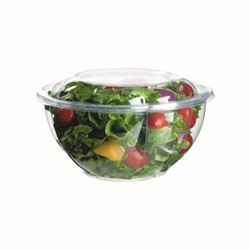 Eco-Products, EP-SB32, Salad Bowl with Lid, 32 oz, Clear, Polylactic Acid/Plastic, 6-11/16 x 3-4/16 in
