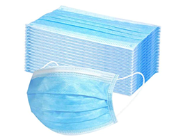 Disposable Face Maskearloop PP One Size Blue 40/50, 8605
