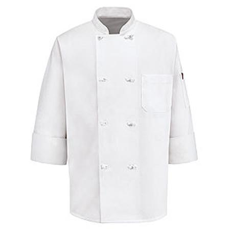Eight Knot Button Chef Coat 0414WH