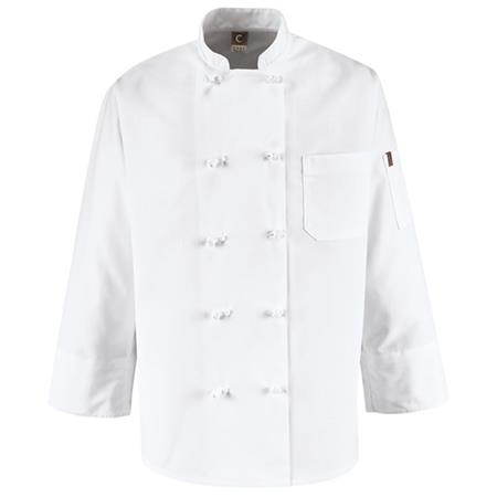 Ten Knot Button Chef Coat 0421WH