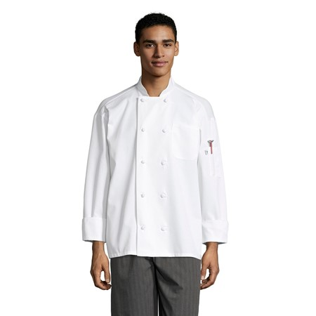 0427 Classic Knot With Mesh Chef Coat