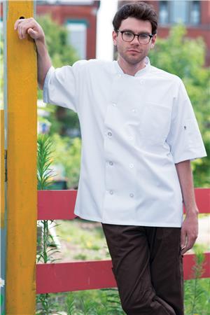 Montego Chef Coat Ss W/Mesh 0429
