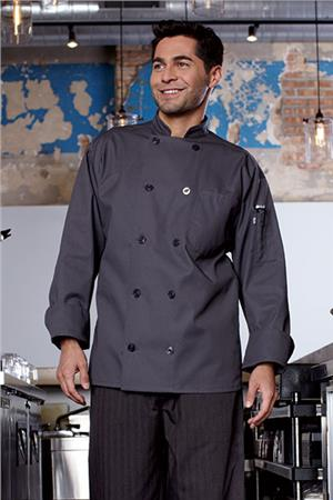 Orleans Chef Coat Slate 0488