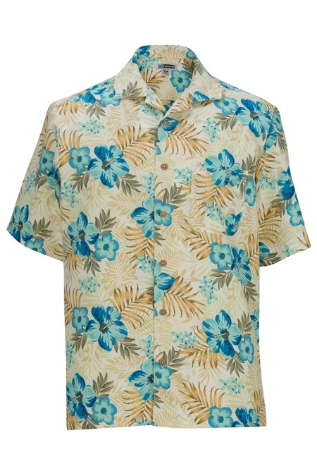 Hibiscus Multi-Color Camp Shirt 1035