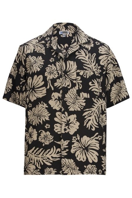 Hibiscus 2-Color Camp Shirt 1036