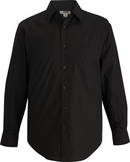 Mens Essential Broadcloth Shirt Long Sleeve 1354